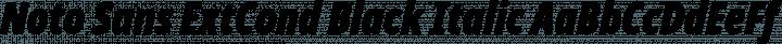 Noto Sans ExtCond Black Italic free font