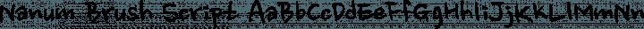 Nanum Brush Script Regular free font