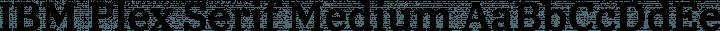 IBM Plex Serif Medium free font