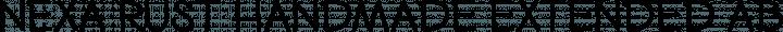 Nexa Rust Handmade Extended free font